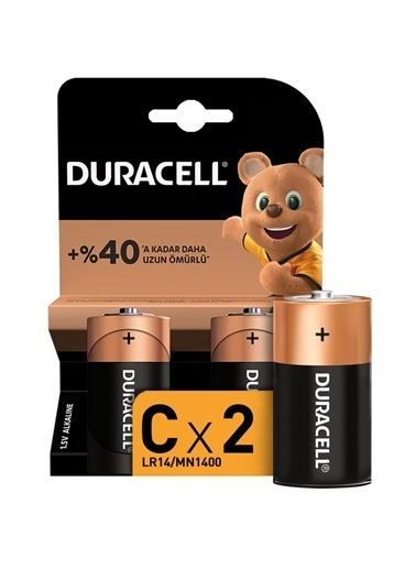 Duracell Duracell Dayanıklı 2'Li Alkaline C Orta Pil Renkli